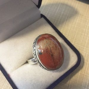 Jewelry - Pretty oval Red rainbow Jasper ring